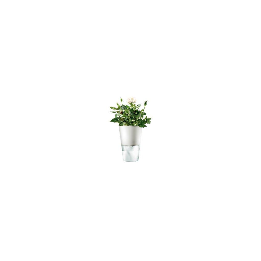 15564 samozavlazovaci kvetinac na bylinky kridove bila 13cm eva solo