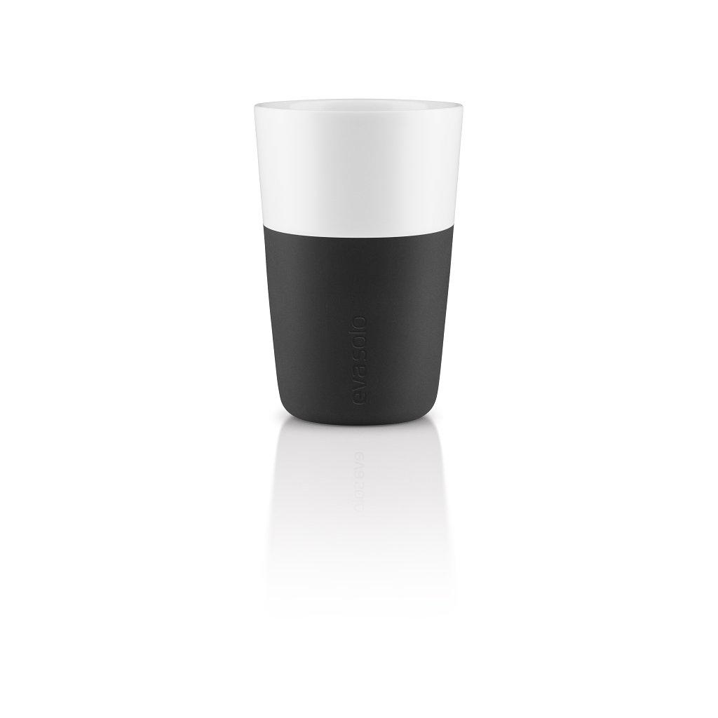 15762 hrnky na cafe latte 360ml set 2ks cerna eva solo