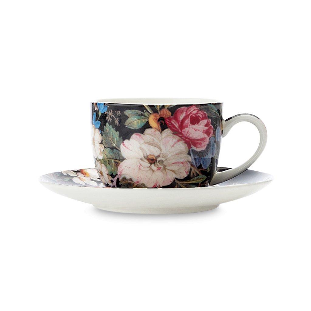 Šálek & podšálek 100 ml Midnight Blossom - William Kilburn / Maxwell & Williams