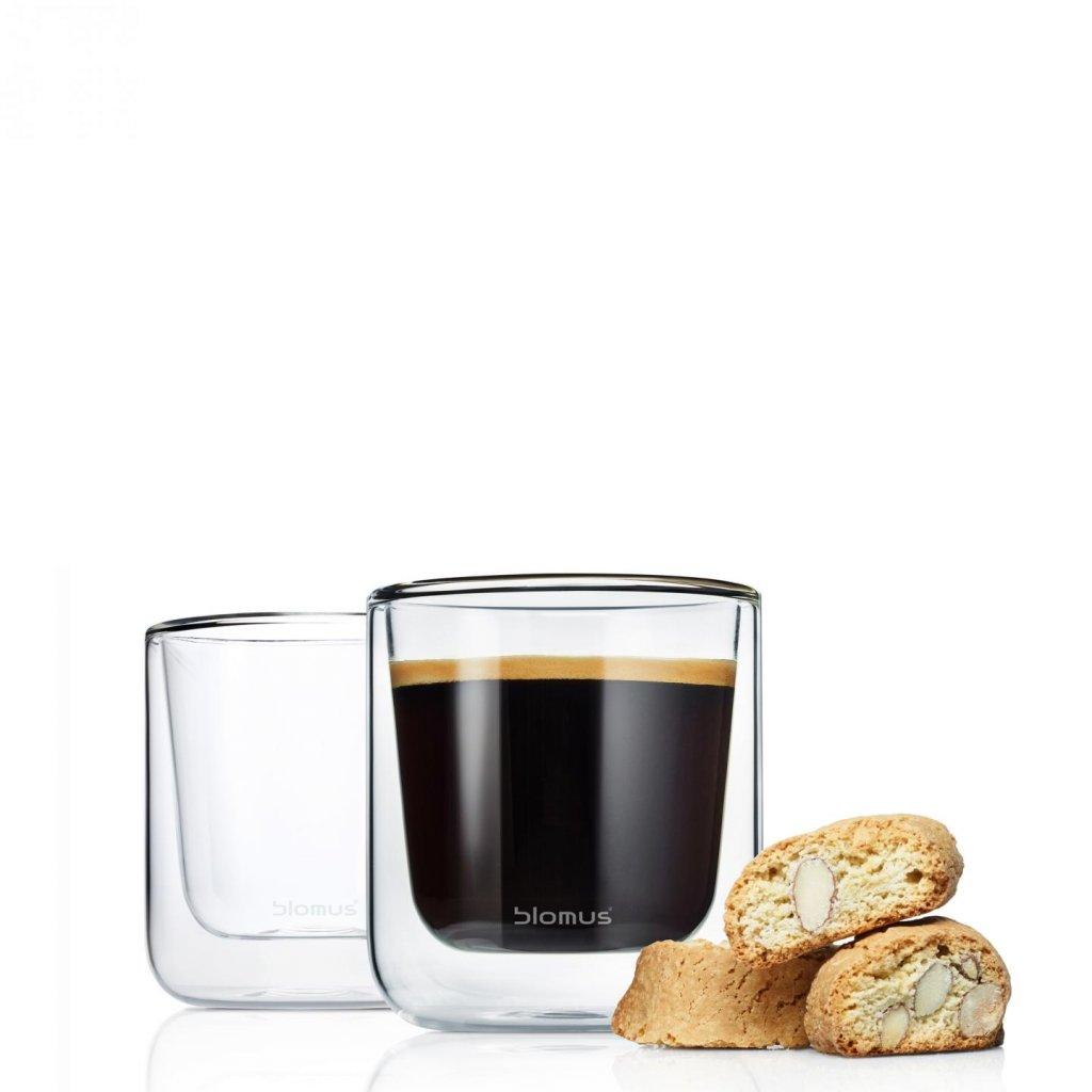 Set 2 ks termosklenic na kávu NERO - Blomus