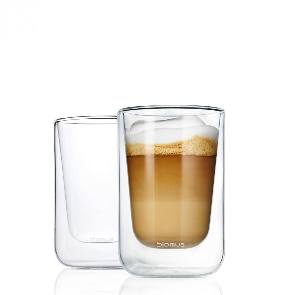 Set 2 ks termosklenic na cappuccino NERO - Blomus