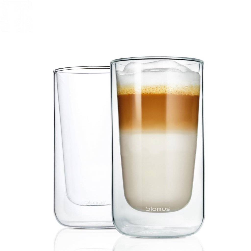 Set 2 ks termosklenic na latté macchiato NERO - Blomus