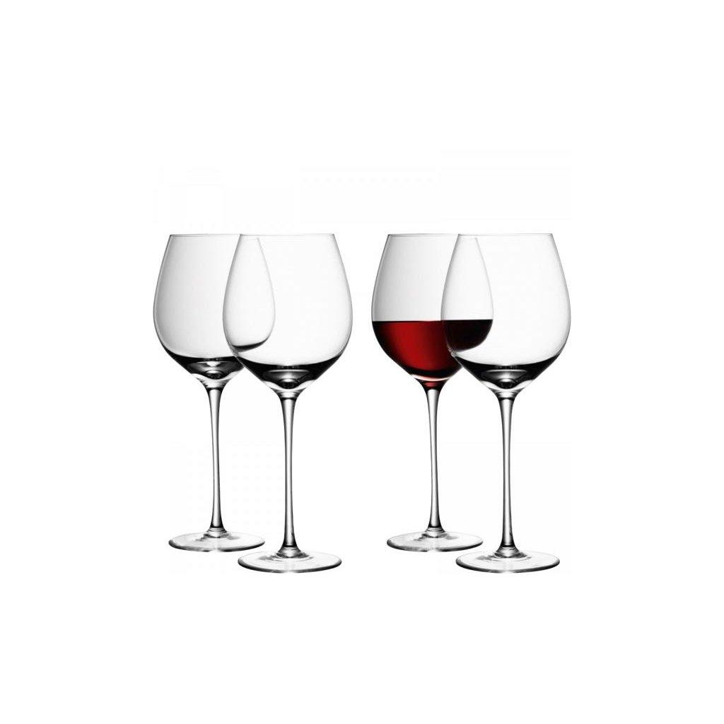 27332 wine sklenice na cervene vino 750ml set 4ks