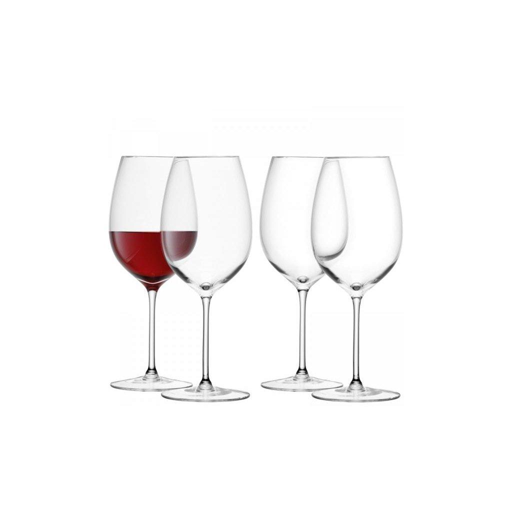 27344 lsa wine sklenice na cervene vino 420ml set 4ks lsa handmade