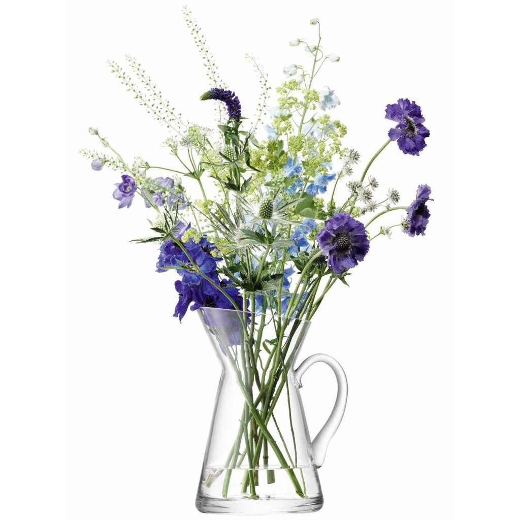 27353 lsa flower sklenena vaza dzban 26cm cira lsa handmade