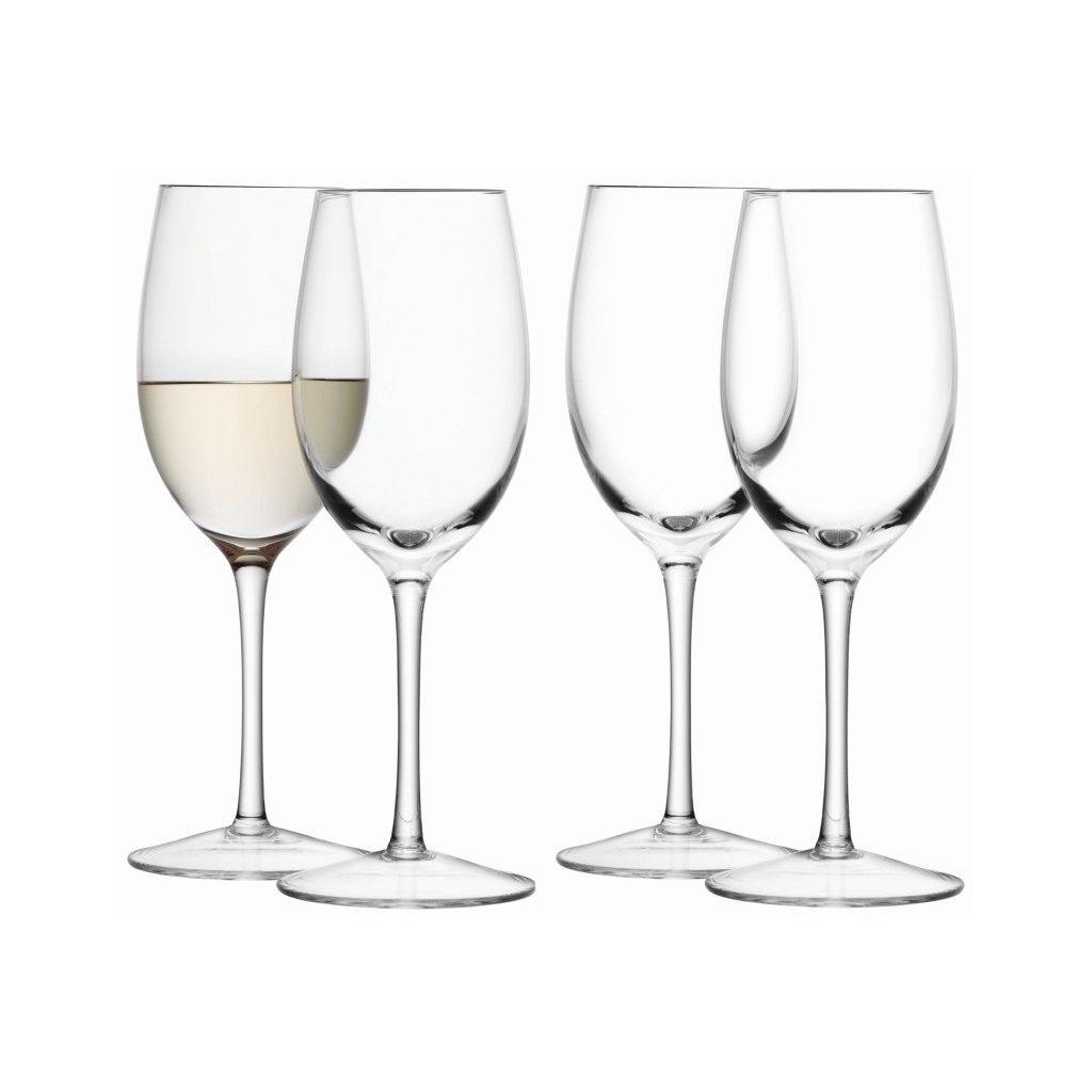 27356 wine sklenicky na bile vino 260ml cire set 4ks lsa handmade