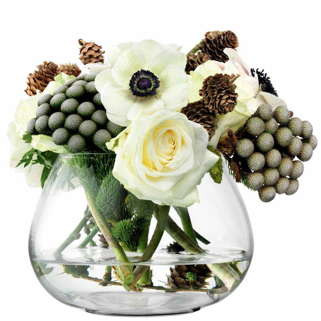 27407 flower sklenena vaza pro aranzma na stul cira v 11 5cm lsa handmade