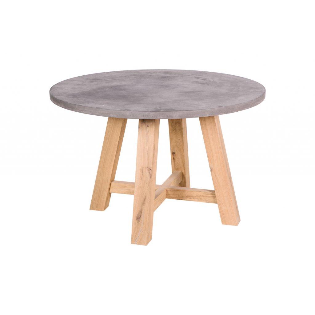 Betonový jídelní stůl Eetfunk - Kohoutek Old Wood