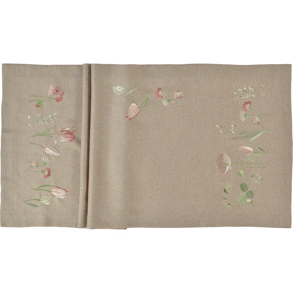 14099 stredovy pas tulips friends 50 x 140 cm tmavy sander