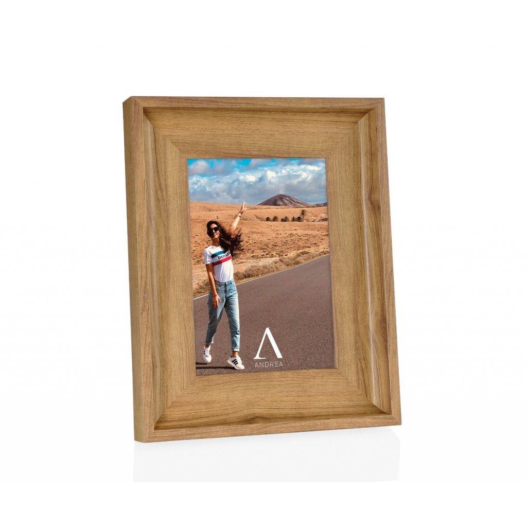 marco de fotos efecto madera natural