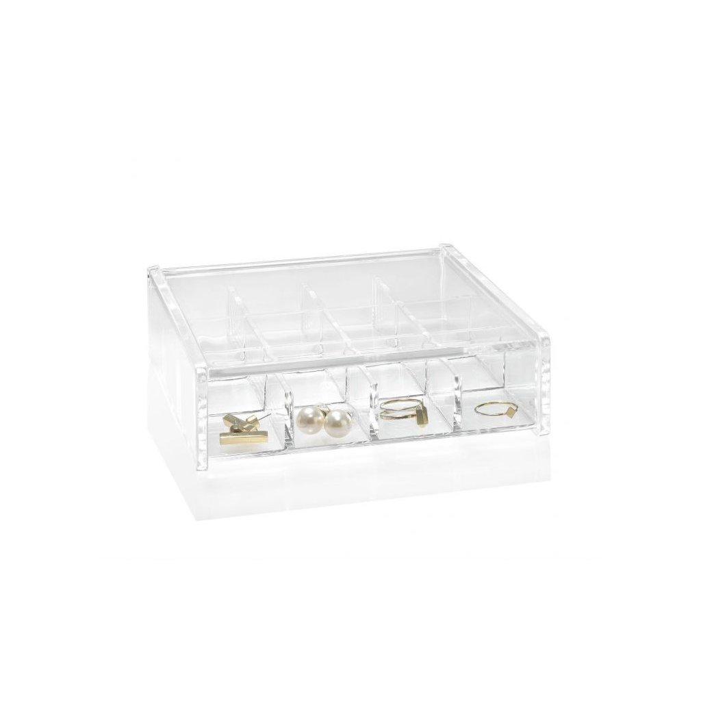 joyero organizador acrilico con 12 compartimentos
