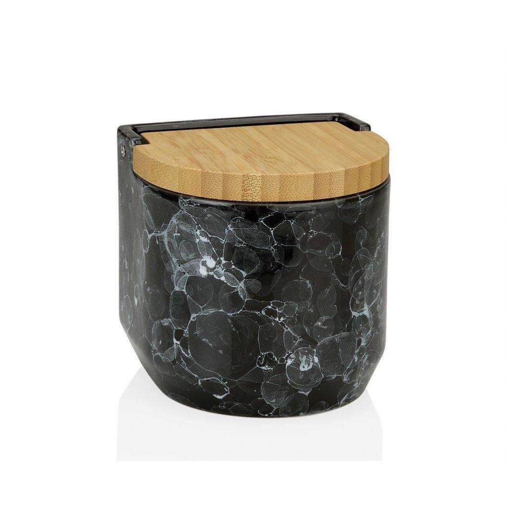 salero bubble ceramica y bambu
