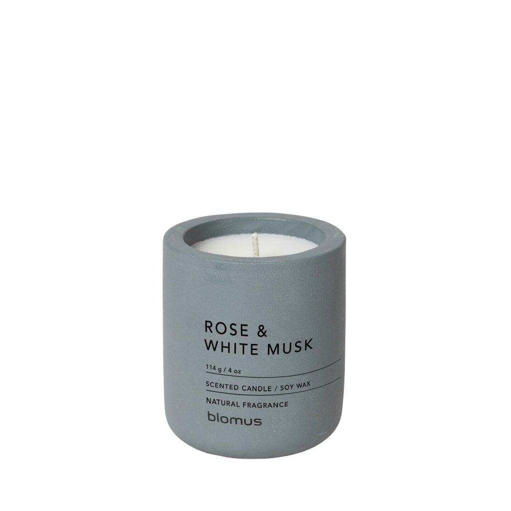 Svíčka S - růže a bílý mošus FRAGA - Blomus