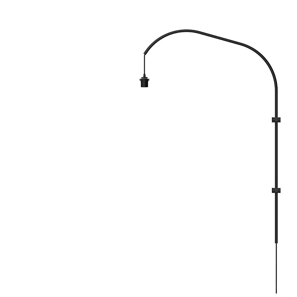 Stojan pro lampu na zeď Willow wall hanger single black H 123 cm - UMAGE
