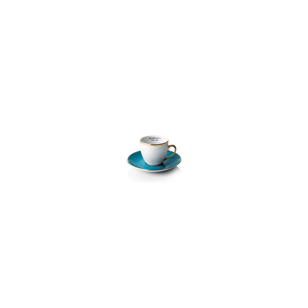 turkish coffee cups turquoise selamlique single