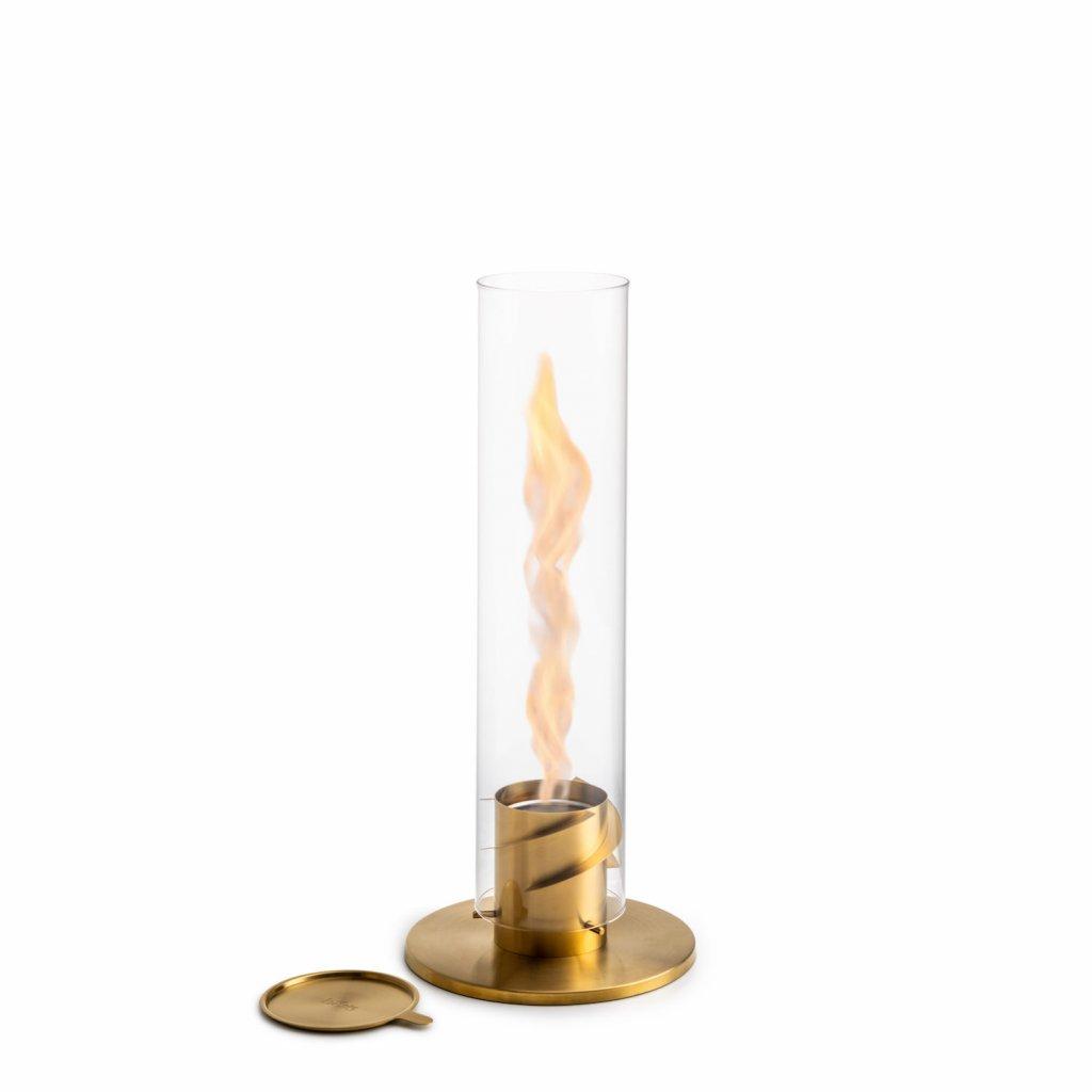 Stolní krb / lucerna se spirálovým ohněm SPIN 120, zlatá - Höfats