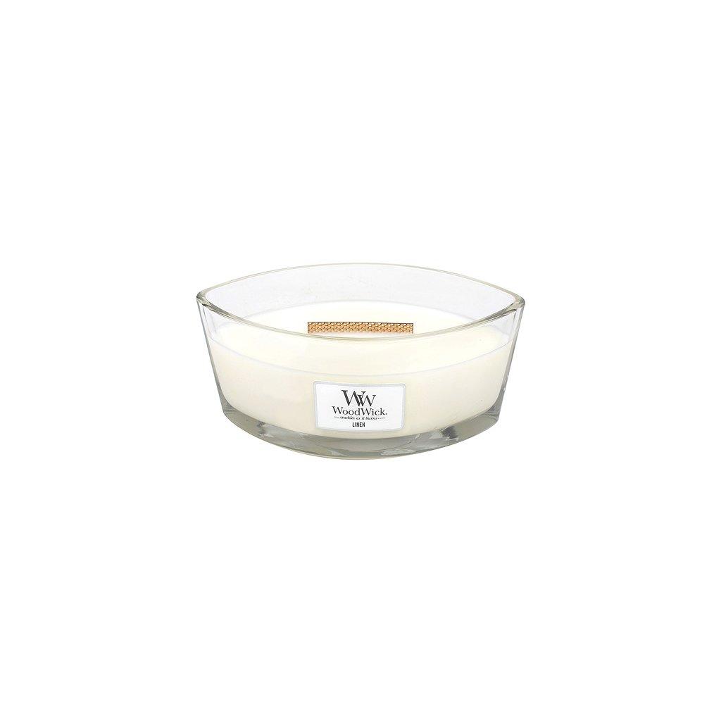 Svíčka dekorativní váza WoodWick Čisté prádlo, 453.6 g