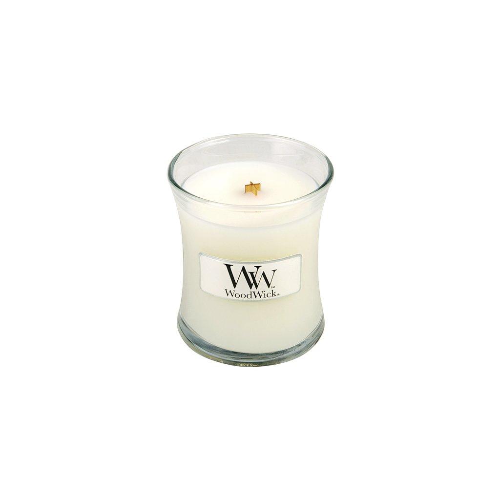 Svíčka oválná váza WoodWick Dětský pudr, 85 g