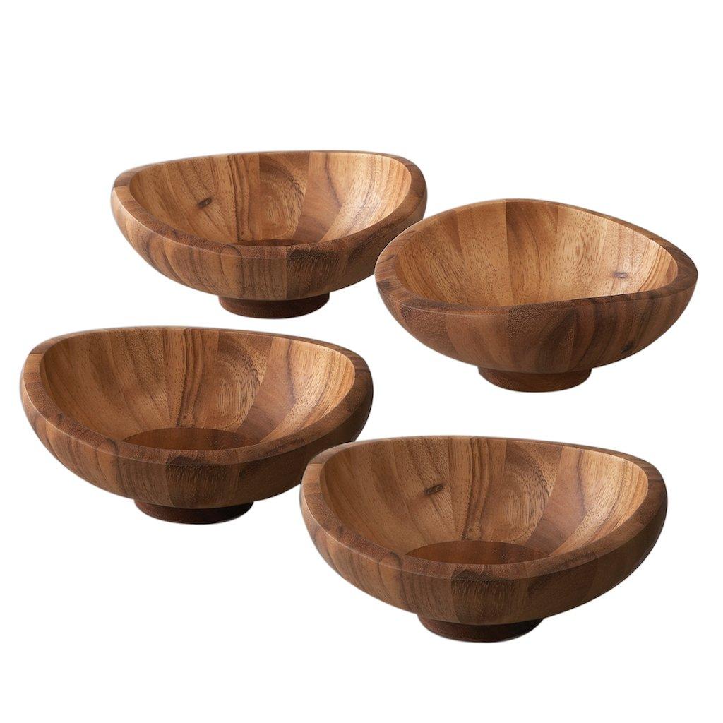 """Salátová miska """"Butterfly"""" z akáciového dřeva - set 4 ks - Nambé"""
