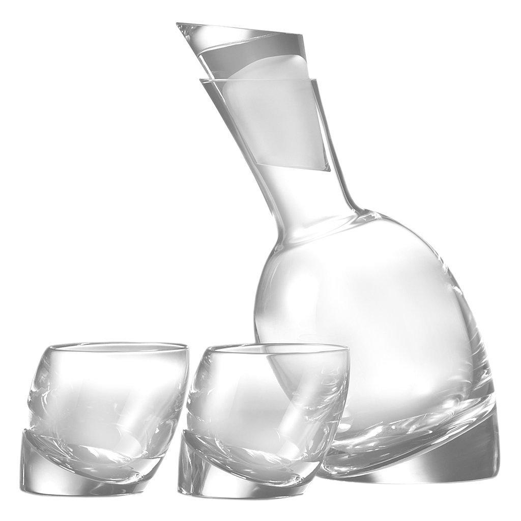 "Dekantér na víno ""Tilt"" se 2 sklenicemi - Nambé"