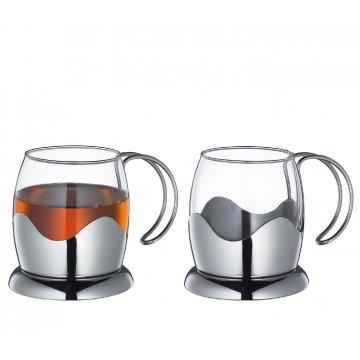 Nerezová sada šálků na čaj 200 ml - Küchenprofi