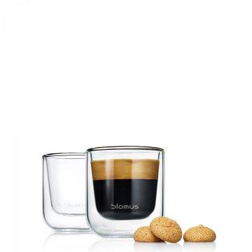 Set 2 ks termosklenic na espresso NERO - Blomus