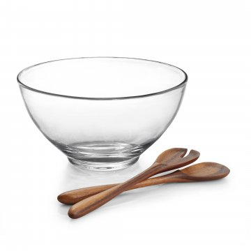 MT1148 Moderne Salad Bowl w Wood Servers