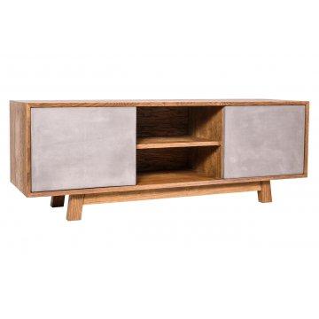 TV stolek Bema, dřevo / beton - Kohoutek Old Wood