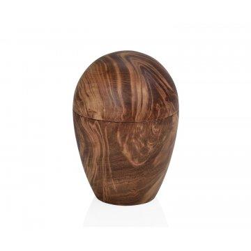 caja decorativa huevo de madera de mango
