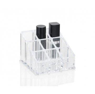 organizador de bano acrilico con 9 compartimentos