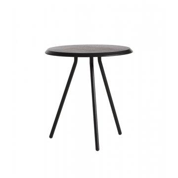Soround side table black painted oak