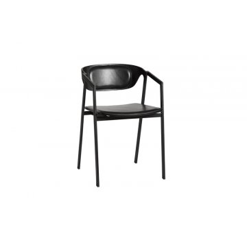 OUD SAC dining chair Leather 1 exposed