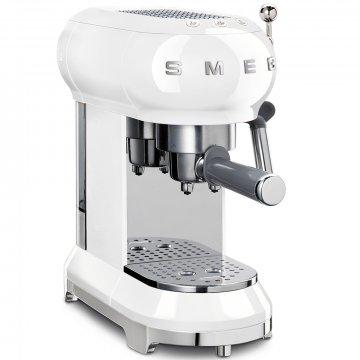 50's Retro Style pákový kávovar na Espresso / Cappucino 15 barů 2 cup bílý - SMEG