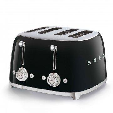 50's Retro Style toustovač P4 černý 2000W - SMEG