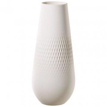 Váza Carré, vysoká, kolekce Manufacture Collier blanc - Villeroy & Boch