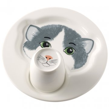 Talíř s hrnkem, kočka, kolekce Animal Friends - Villeroy & Boch