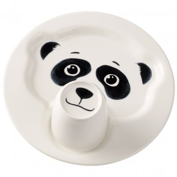 Talíř s hrnkem, panda, kolekce Animal Friends - Villeroy & Boch