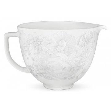 Keramická mísa 4,83l květinová bílá - KitchenAid