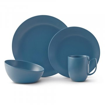 MT1301 Orbit 4pc Place Setting Aurora Blue