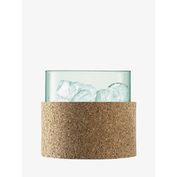 Kyblík na led, výška 15 cm, čirý/korek - LSA International