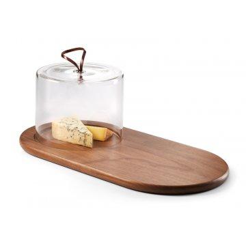 353003 WALNUT kaeseplatte kaeseglocke kaesebrett aus walnussholz