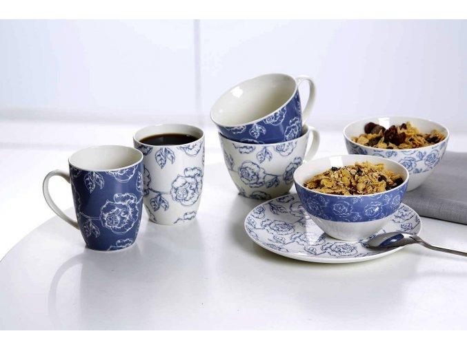 Hrnek 350 ml, kolekce Blue Flower, modrý - Ritzenhoff & Beker