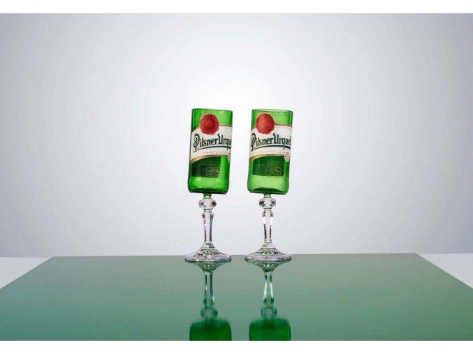 SKLENICE re-design Pilsner Urquel - edice DRUNK GLASSES - Lukáš Houdek