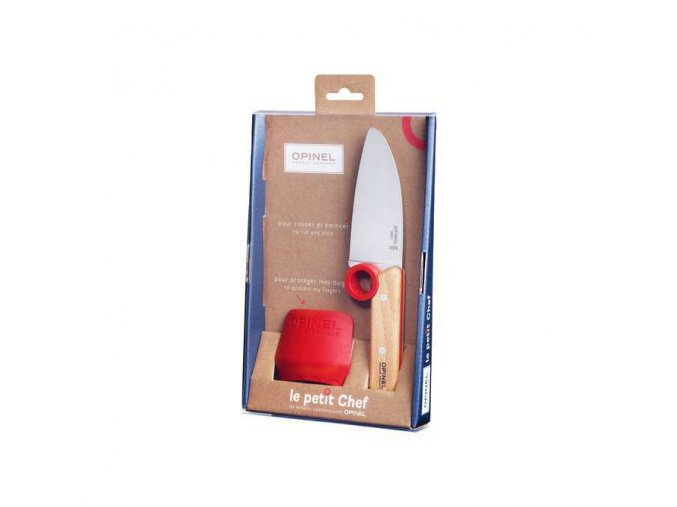 Dětský nůž + chránič prstů - Opinel