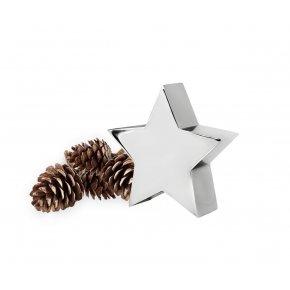 Vánoční dekorace hvežda z nerezové oceli výska 14 cm - EDZARD