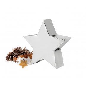 Vánoční dekorace hvežda z nerezové oceli výska 24 cm - EDZARD