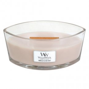Svíčka dekorativní váza WoodWick Vanilka a mořská sůl, 453.6 g