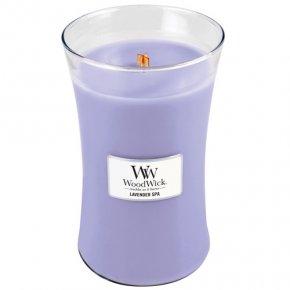 Svíčka oválná váza WoodWick Levandulová lázeň, 609.5 g