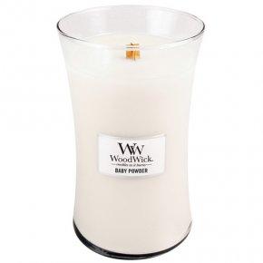 Svíčka oválná váza WoodWick Dětský pudr, 609.5 g