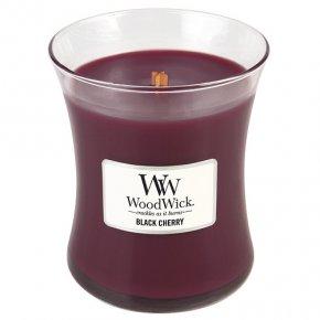Svíčka oválná váza WoodWick Černá třešeň, 275 g